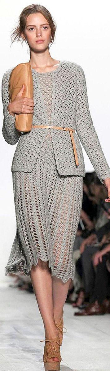 CROCHET FASHION TRENDS exclusive gray crochet by LecrochetArt, $720.00