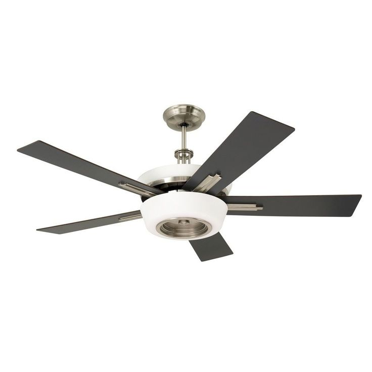 Emerson Laclede Eco 62-inch Brushed Steel Modern Transitional Ceiling Fan with Reversible Blades (Brushed Steel), Silver (Metal)