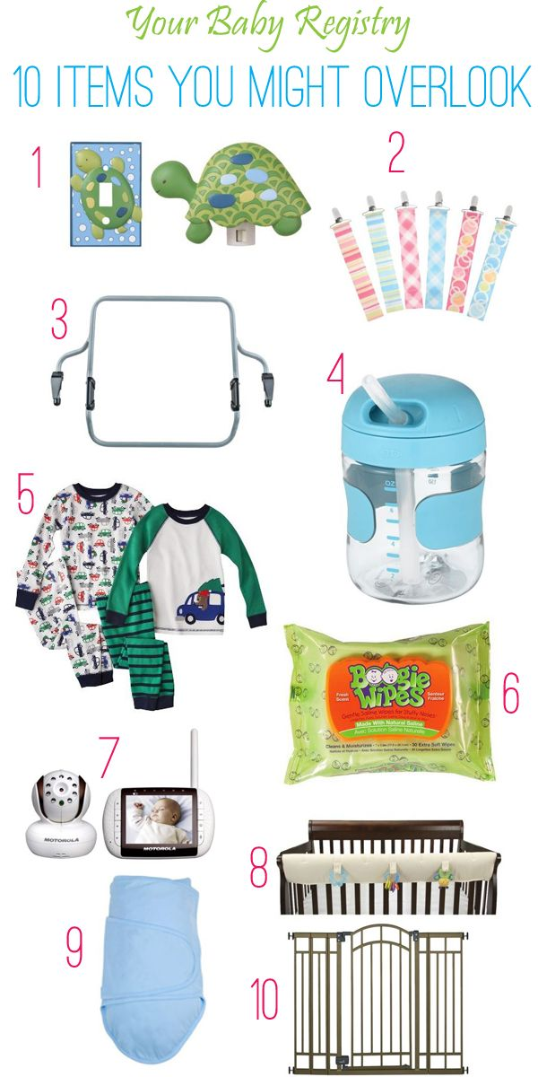 Top 10 baby registry items you never you knew you needed, until now.