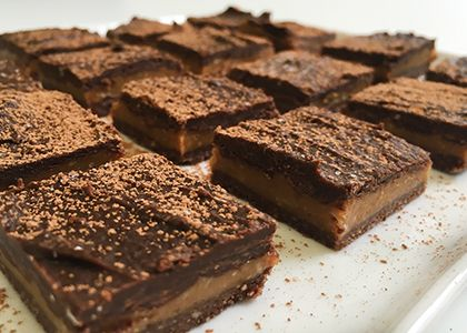 100-Calorie Chocolate Peanut Butter Squares Recipe on Yummly. @yummly #recipe