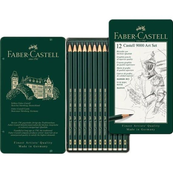 Faber Castell 9000 Design Pencils Tin Sets 8b To 2h In 2020