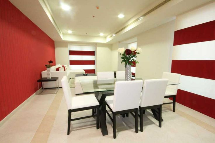 Dining room furniture design inspiration black white red for Black and red dining room ideas