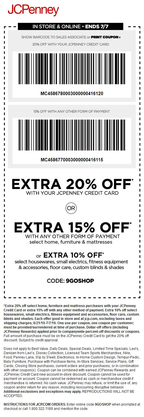 jcpenney coupon code for baby furniture