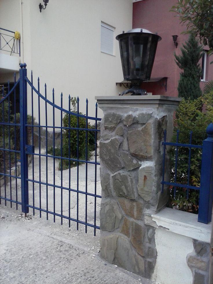 Ground based bronze lantern