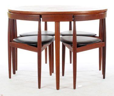 hans olsen compact dining set for frem rojle 3500 used design small spaces pinterest. Black Bedroom Furniture Sets. Home Design Ideas
