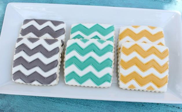 chevron cookies