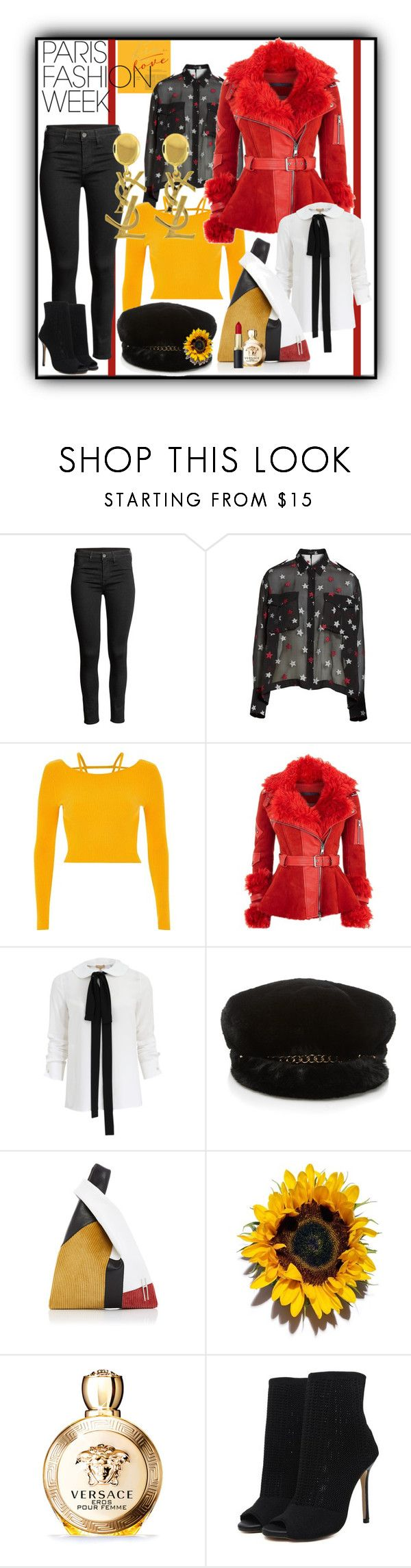 """""""Red and Yellow"""" by tgtigerlily ❤ liked on Polyvore featuring rag & bone, River Island, Alexander McQueen, Michael Kors, Amaranta, Yves Saint Laurent and Versace"""