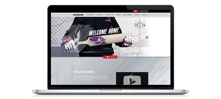 Mongoose Cricket UK: Responsive Website Design, Development and Management by Electrik Design Agency www.electrik.co.za