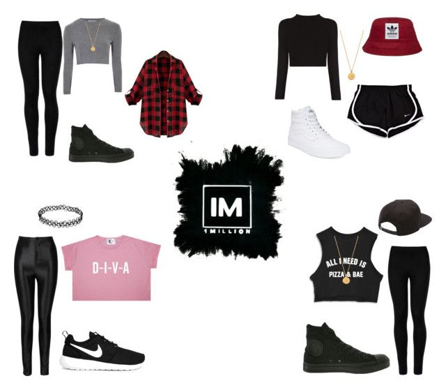 1MILLION DANCE STUDIO #3 by kariina-sykes on Polyvore featuring moda, Glamorous, Wolford, Converse, Vans, NIKE, Kate Spade and adidas Originals