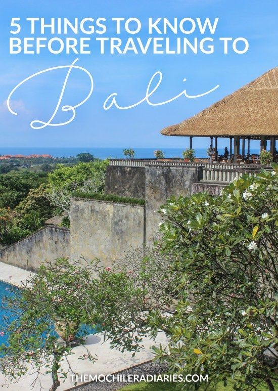 5 things every traveler should know before traveling to Bali, Indonesia