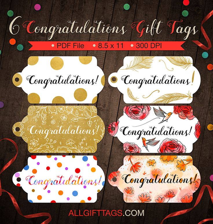 1132 best free tags images on pinterest free printable gift printable congratulations gift tags get them in pdf format at httpallgifttags negle Gallery