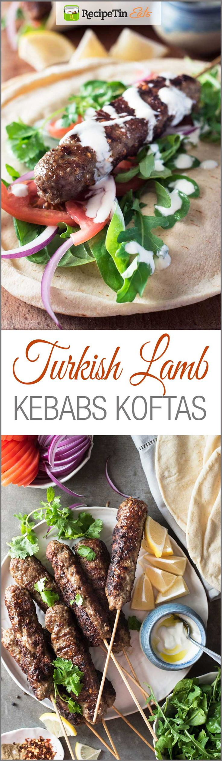 Turkish Lamb Kebab Koftas - Simple to make, exotic and fragrant, 30 minutes from start to finish!
