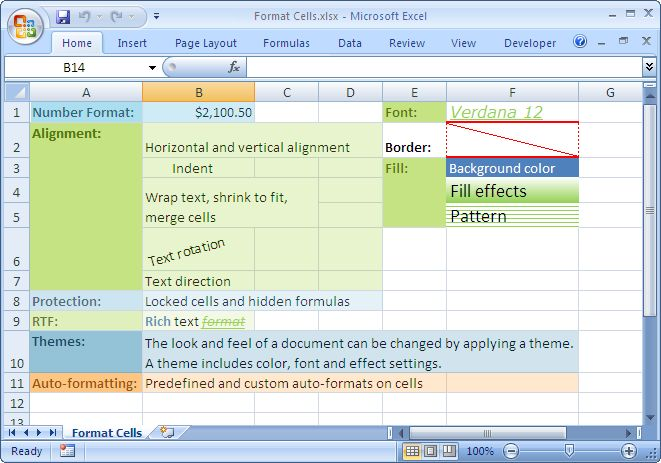 Export data to Excel with formatting! http://www.easyxls.com/manual/basics/format-excel-cells.html