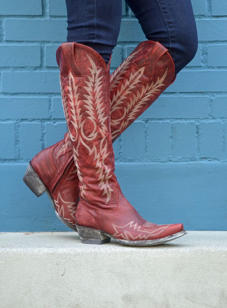 L1213-1 | Allens Boots | Women's Old Gringo Mayra Red