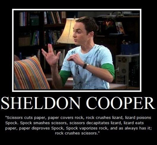 Oh Sheldon..: Rocks Paper Scissors, Sheldon Cooper, Lizards Spock, Bangs Theory, Scissors Lizards, Rock Paper Scissors, Big Bang Theory, Funny, Big Bangs