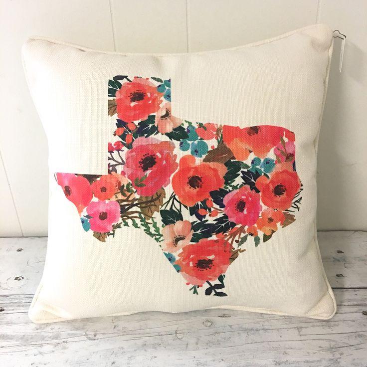 Texas Floral Pillow
