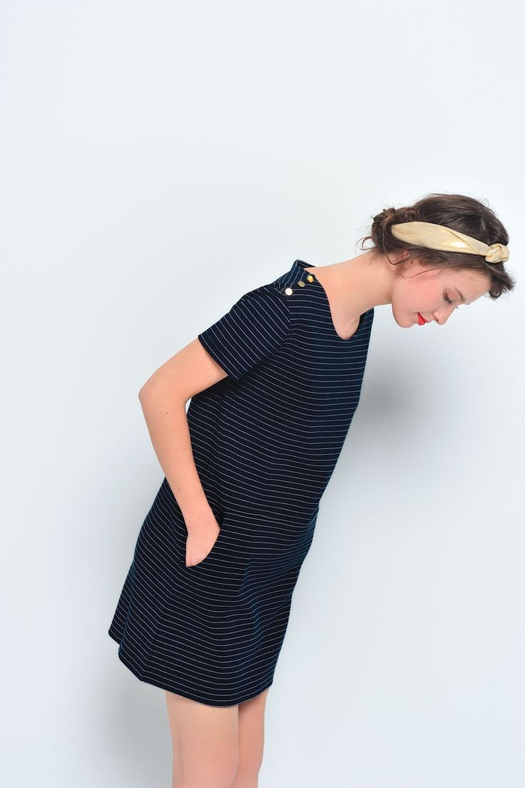 Robe jadantine marine/ecru - robe - des petits hauts 2