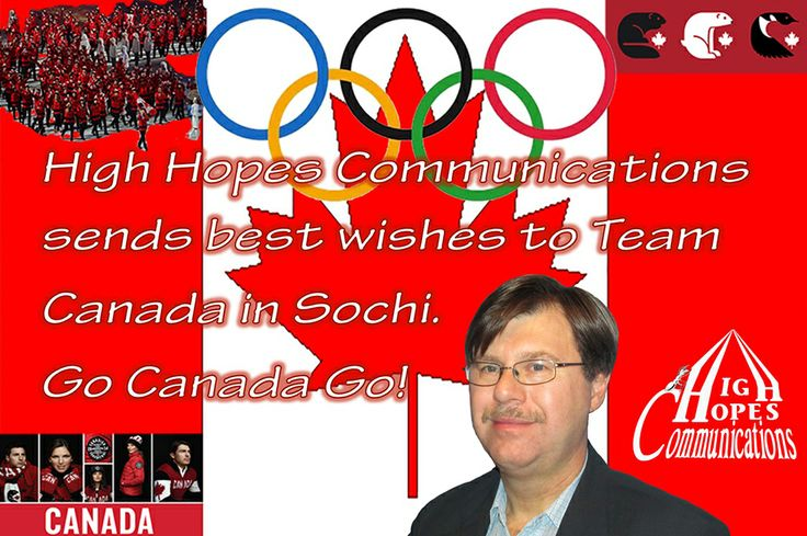 High Hopes Communications sends best wishes to Team Canada. www.highhopescommunications.ca