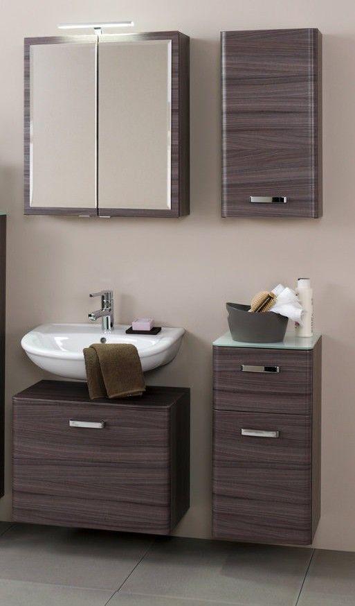 badezimmer set holz mit aufsatzbecken