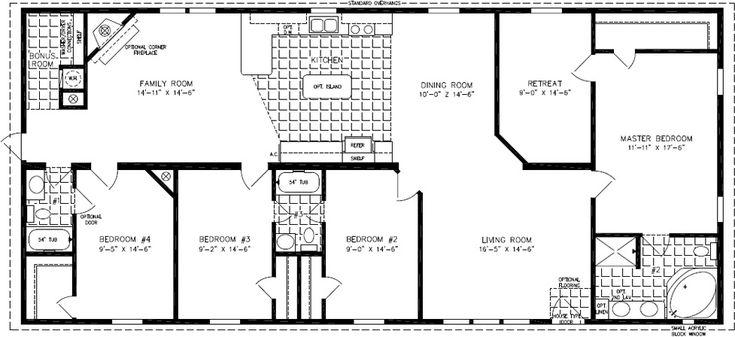 91 best mobile home images on pinterest barndominium for 2000 square foot mobile home