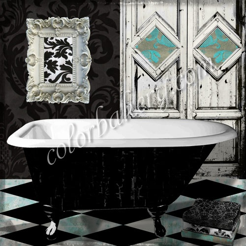 vintage damask bathroom. Interior Design Ideas. Home Design Ideas