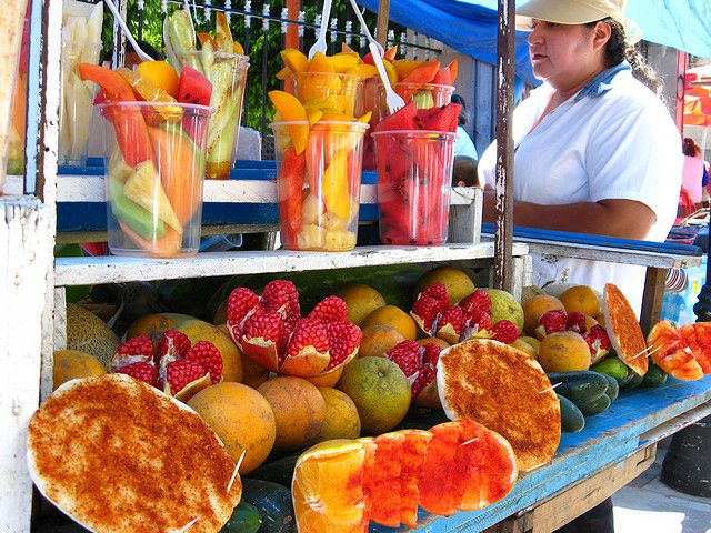 "Mmmmmm!!!!! Mexican Fruit cups w/ chili n' lime  by MaLuMaPe, via Flickr. I usually get mine in Wachula or Wimauma, Fl. It is exciting to see people lined up to get ""fruit"" and fruit drinks!!/  Delicious and nutritious, mmm! / DL"