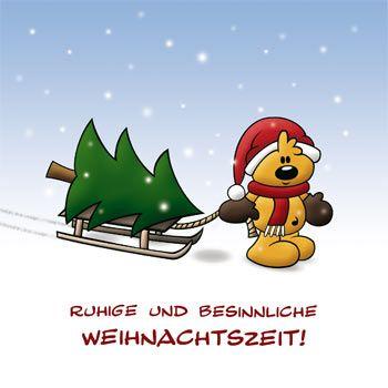 Die Schnuffelbären - Kostenlose Grußkarten für Weihnachten und Silvester