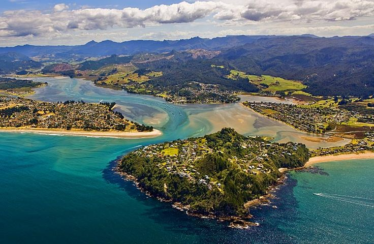 Tairua, and ,Tokaroa Point, foreground, see more at New Zealand Journeys app for iPad www.gopix.co.nz
