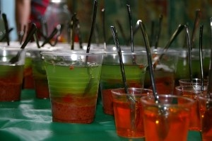 Muddy Slime Jelly cups for Trash Pack party