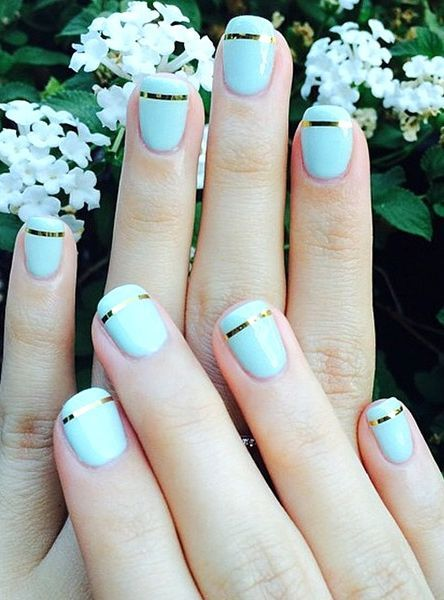 Are you bored with your boring plain nails? Here are some creative stripe nail designs for your inspiration. They will surely help you decorate your nails easily and creatively.