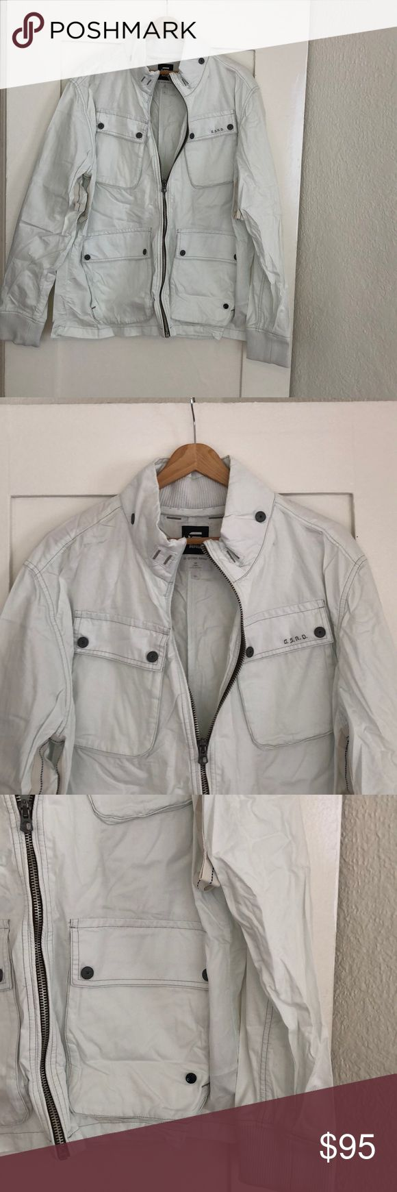"G-STAR RAW Utility Jacket NWOT G-STAR Jacket. Fits & feels like a windbreaker.   Sleeves from top of shoulder to hem = 28"" Armpit to armpit while zipped = 22"" G-Star Jackets & Coats Military & Field"