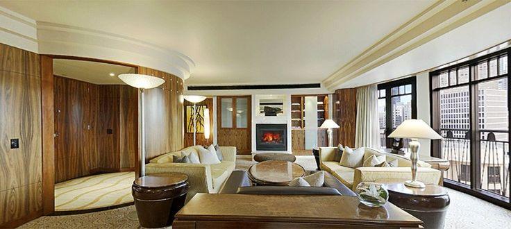 A premier suite at the Park Hyatt Hotel, Melbourne, Australia.