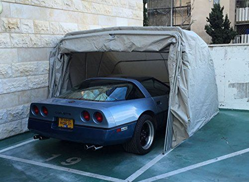 Carports - Ikuby 100 Waterproof Medium Size Carport Lockable Shelter Foldable Carport Retractable Car Sheds Car Canopy Grey >>> Continue to the product at the image link. (This is an Amazon affiliate link)