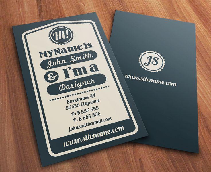 217 best Design - Business Cards images on Pinterest Business - name card