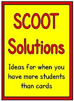 SCOOT Solutions for When You Have More Students than Cards from Minds in BloomTask Cards,  Dust Jackets, Schools, Scoot Solutions, Popular Pins,  Dust Covers, Book Jackets, Classroom Ideas,  Dust Wrappers
