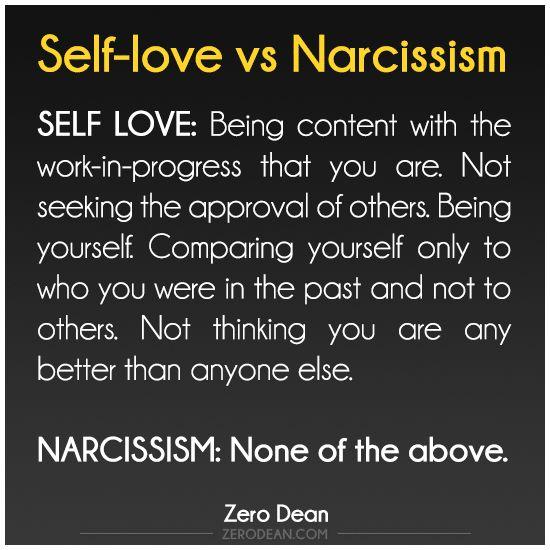 Self-love vs Narcissism #zerosophy