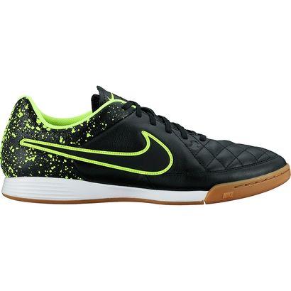 Chuteira Nike Tiempo Gênio Leather IC Futsal - Verde Limão