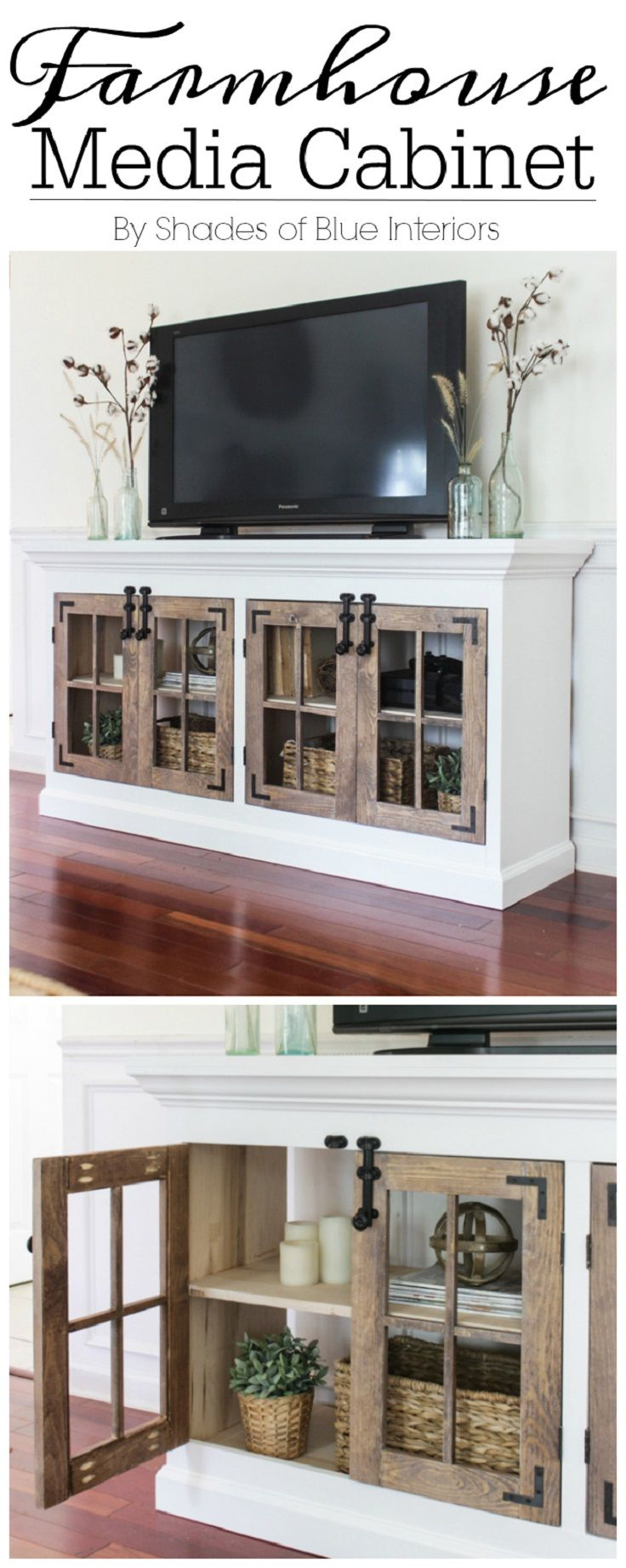 Farmhouse Media Cabinet Free Plan