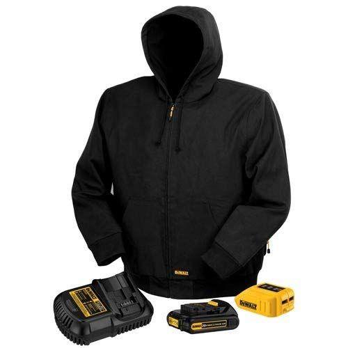 9184cdf17e36b DEWALT DCHJ061C1-2XL 20V/12V MAX Black Hooded Heated Jacket Kit, XX-Large  Review