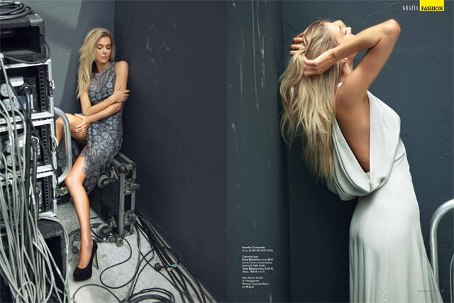 Grazia editorial with Jennifer Hawkins.  Hair by Keiren Street