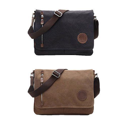 Laptop Shoulder Bag 13.5'' Vintage Carrying Case Macbook Pc Messenger  2 Colors #Lifeboost