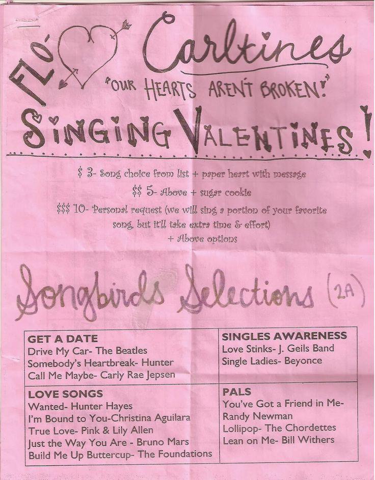 PeaceLoveMusicGrows: Choir Chatter: Singing Valentines