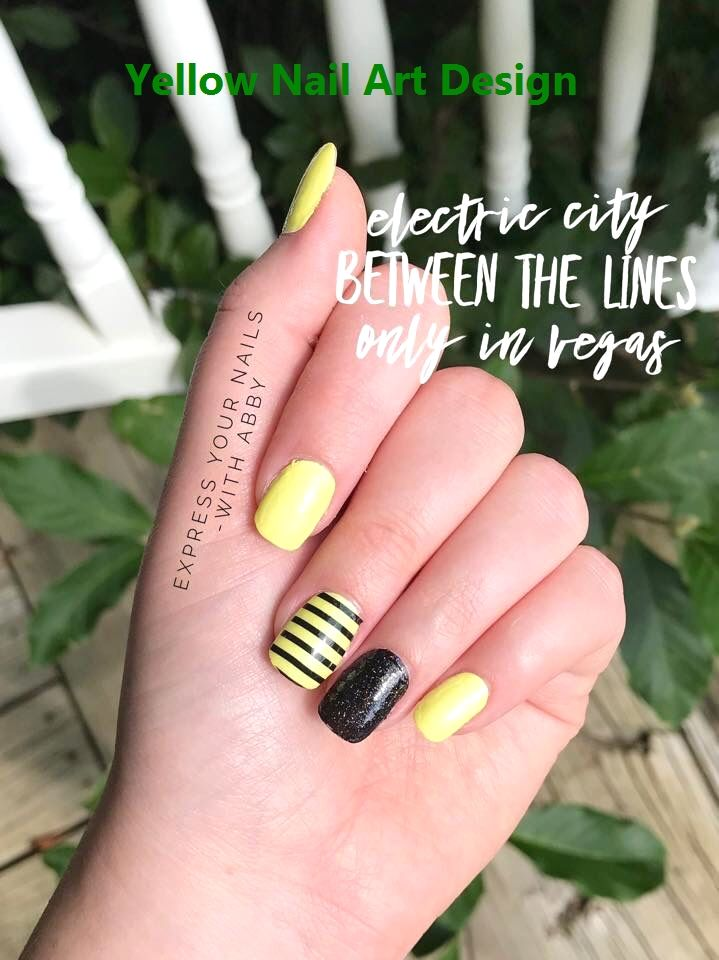 DIY Black and Yellow Bee Manicure!