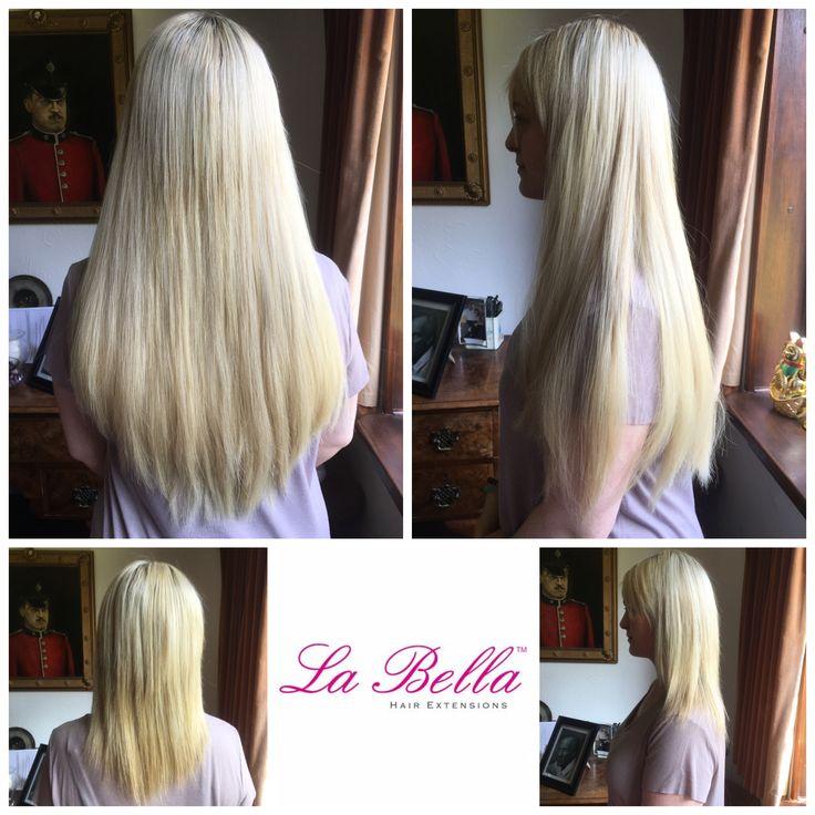 "BEAUTIFUL transformation 💁🏼Full head 18"" La Bella Hair extensions in our stunning Italian hair £475! 💁🏼Visit us at www.labellahair.co.uk #nanorings #nanoringskent #nanoringsessex #nanoringhairextensions #hairextensionslondon #hairextensionsBromley #hairextensionsBeckenham #hairextensionsessex #hairextensionssurrey #hairextensions #hair #hairblog #hairbloggers #labellahairextensions #discreethairextensions"
