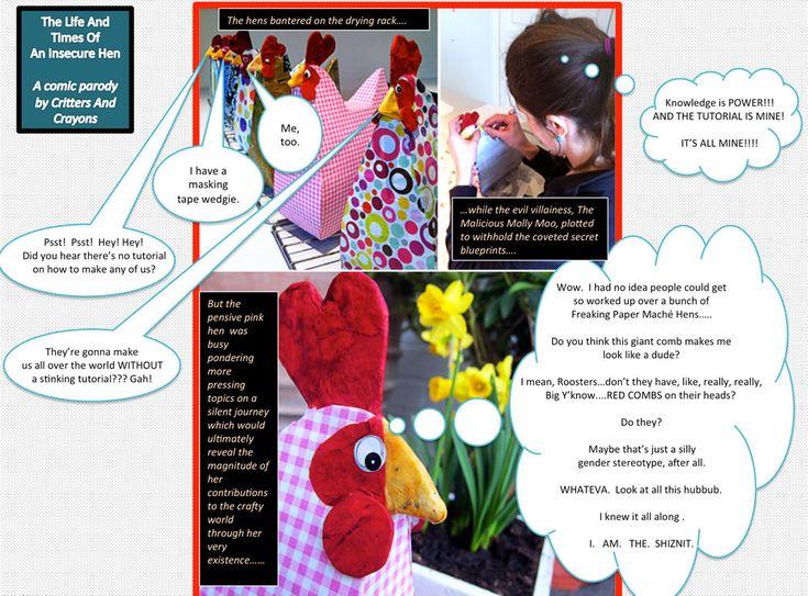 MollyMooCrafts Handbag Hens - Papier Mache Craft for Mums