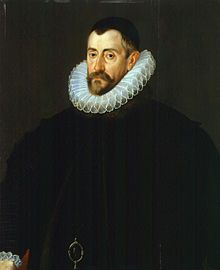 Francis Walsingham, principal secretary to Elizabeth I, mostly known as her spymaster.  Potrait c. 1585, attributed to John de Critz.  Walsingham died April 1690.