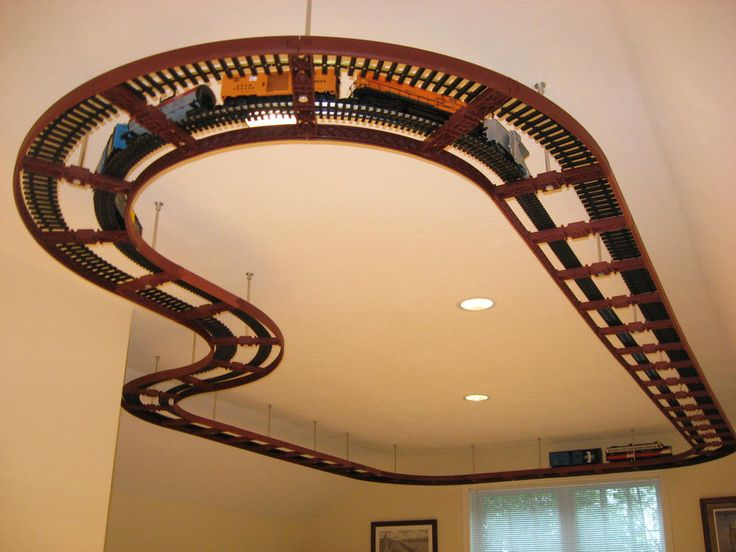 Ceiling Train Layout - train track layouts - Google Search                                                                                                                                                                                 More
