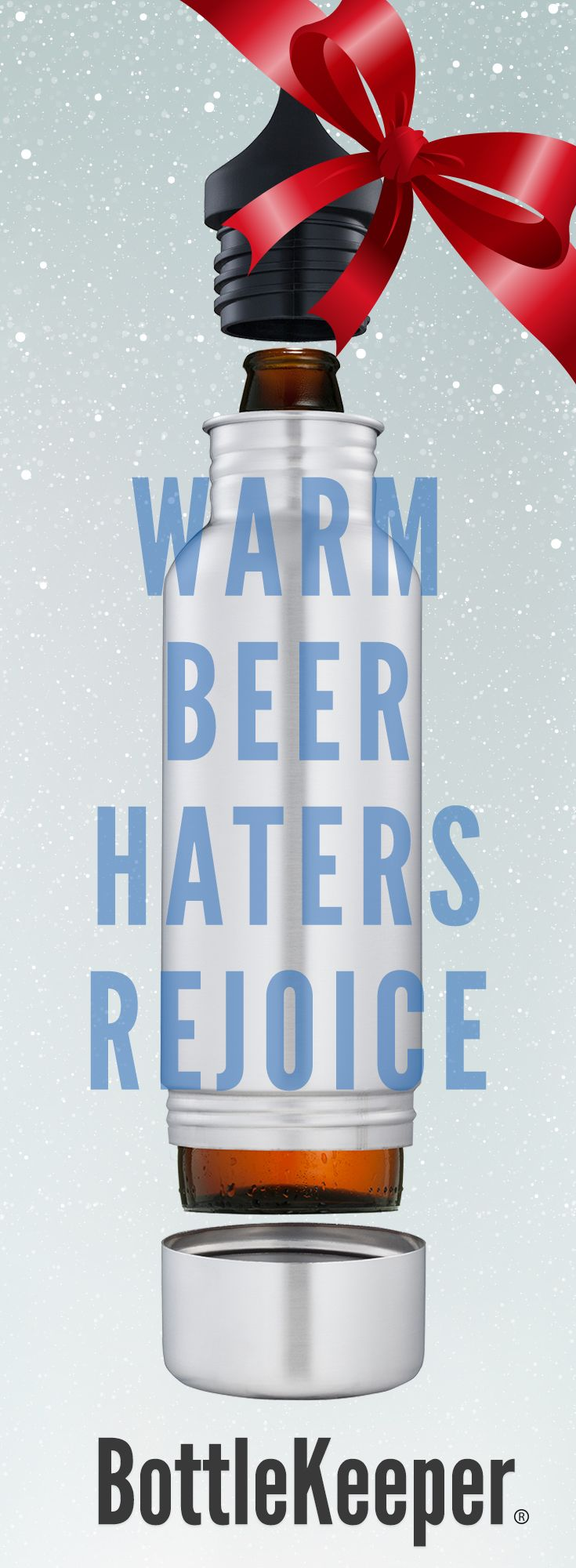 Lined with neoprene and padded for serious impact, BottleKeeper does what a regular koozie can't: it keeps your beer cold and safe, wherever you go. Protect your beer from the elements with BottleKeeper. http://www.bottlekeeper.com/?utm_source=Pinterest&utm_medium=52.4P