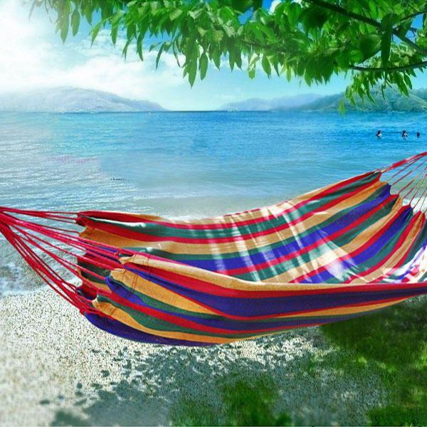 Hamaca de Jardin Playa Colgante Individual o Doble - Arcoiris