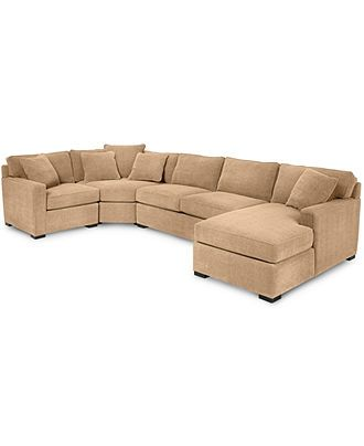 Best Radley 4 Piece Fabric Chaise Sectional Sofa Custom Colors 640 x 480